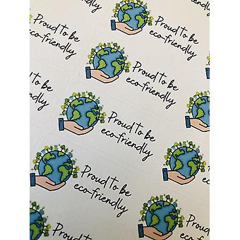 """proud To Be Eco Friendly"" - Sticker"