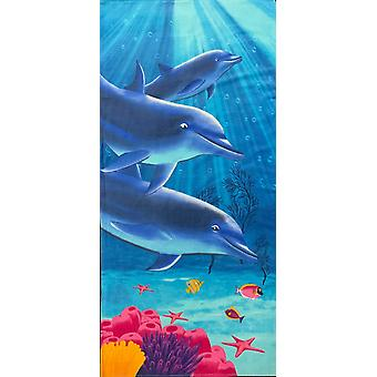 Aqua Perla turecka bawełna ręcznik plażowy delfin