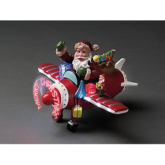 Konstsmide Fibre Optic Plane With Santa 8 LED 4200-000