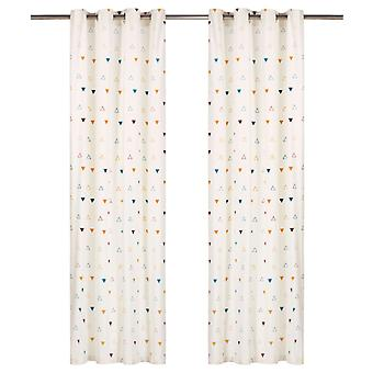 Curtains with metal loosening 2 pcs. cotton 140x175cm multicoloured