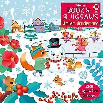 Usborne Book And 3 Jigsaws Winter Wonderland