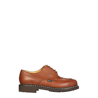 Paraboot 710708 Men's Brown Leather Lace-up Shoes