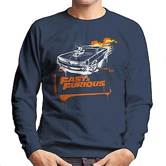 Fast and Furious Dodge Charger Flame Men's Sweatshirt