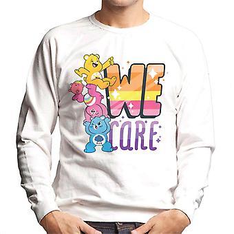 Pflege Bären entsperren die Magie wir kümmern Männer's Sweatshirt