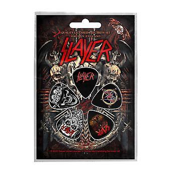 Slayer Guitar Picks Demonic Band Logo new Official Set Of 5