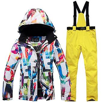 Thick Warm Ski Suit, Waterproof/windproof Skiing And Snowboarding Jacket/pants