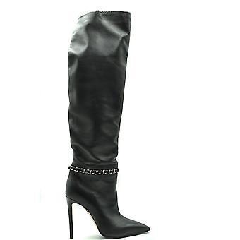 Ninalilou Ezbc115023 Women's Black Leather Boots
