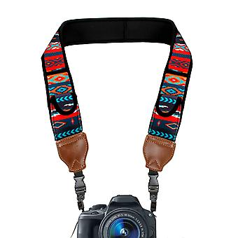 Usa gear trueshot, neoprene shoulder strap for camera with pockets rack accessory, multi-coloured (s