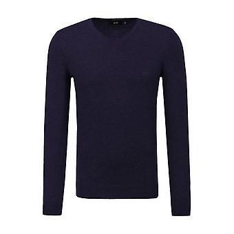 Hugo Boss Baram-L Fine Knit V Neck Jumper 50373737 480
