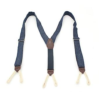 Men Women Fashion Denim Suspenders For Jeans