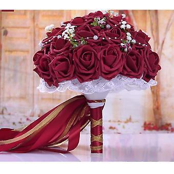 Wedding Decoration Bouquet Handmade Artificial Flower Rose Bridal