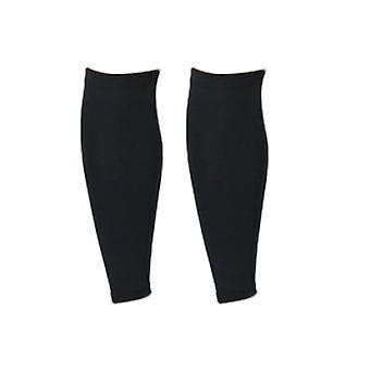 Chaussettes élastiques de veau de compression pour sports running shin splint black l size