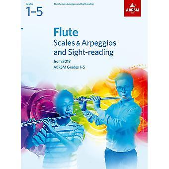 Escalas de flauta e arpejos e leitura de visão, Abrsm Notas 1-5 Paperback