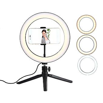 Usb Led Selfie Ring Light Cell Phone Photography Lighting With Tripod