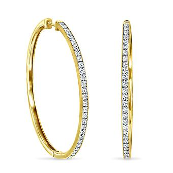 Earrings My Shiny Hoops 18K Gold and Diamonds