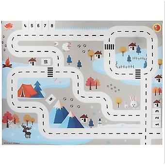 Grand tapis de jeu de stationnement de trafic de ville, playmat non tissé imperméable à l'eau avec le jouet de voiture