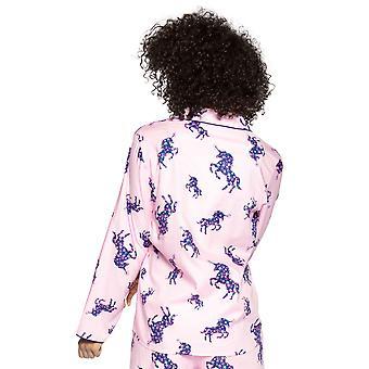 Cyberjammies Ariana 4718 Naiset's Yksisarvinen Vaaleanpunainen Puuvilla Pyjama Toppi