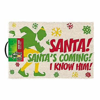 Elf Santas Coming Door Mat