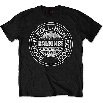 Ramones Rock 'N Roll High School, Bowery, Nyc Official Tee T-Shirt Unisex