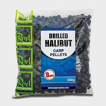 New R Hutchinson Drilled Halibut Pellets 12mm Blue