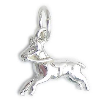 Paard Kleine Sterling Zilveren Charm .925 X 1 Paarden Charms - 4574