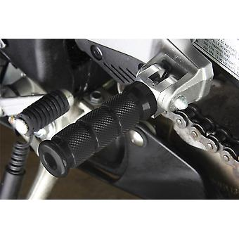 BikeTek Alloy Round Sports Footpegs Honda Pillion Black