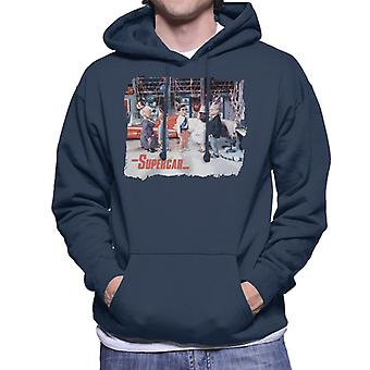 Supercar Birthday In Black Rock Men's Hooded Sweatshirt