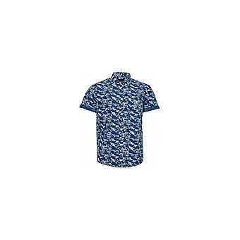 Replika Jeans Tall Fit All Over Print Short Sleeve Shirt