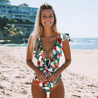 Swimwear Women Ruffle Bodysuit