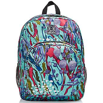 School Kit - Strong Invicta BACKPACK + PORTAPENNE - Abstract Jungle