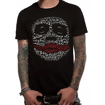 Batman: The Dark Knight Unisex Adult Joker Ha Outline T-Shirt