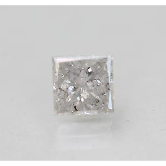 Gecertificeerd 0.58 Karaat G Kleur Princess Natural Loose Diamond 4.86x4.78mm