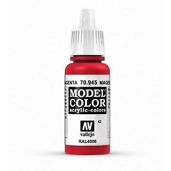 Vallejo Model Color 17ml Acrylic Paint - 945 Magenta