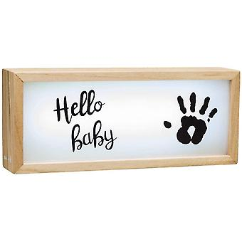 Baby kunst houten collectie lightbox met opdruk