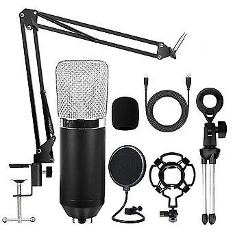 Bm700 condenser micrófono usb profesional streaming estudio kit de micrófono de micrófono para la conferencia en vivo home juegos youtube podcasting