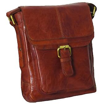 Ashwood Nahka A4 Cross Body Laukku - Honey Brown