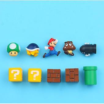 3d Super Mario Bros Fridge Magnets Refrigerator Message Sticker Toy Birthday