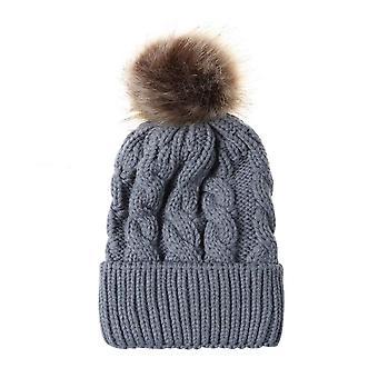 Talvi naiset ja lapset neulos villa lämmin hattu