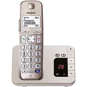 HanFei KX-TGE220GN DECT Seniorentelefon mit Anrufbeantworter (schnurlos, hrgertekompatibel,