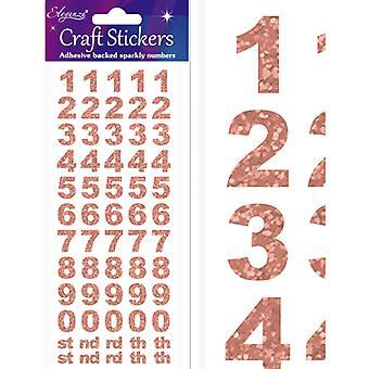 Oaktree UK Ltd - Craft Stickers - Bold Number Set - Rose Gold