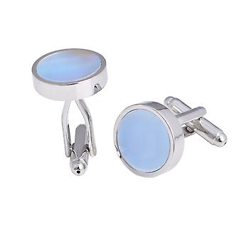 Cufflinks Round Pearl Colorful Shell Cufflinks For Men