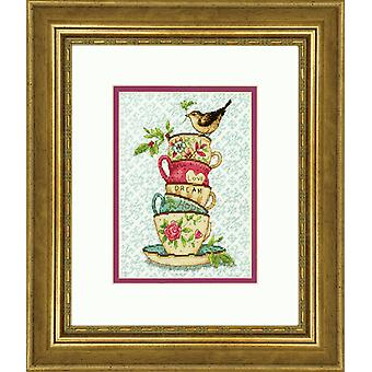 Dimensions Gold: Counted Cross Stitch: Stacked Tea Cups