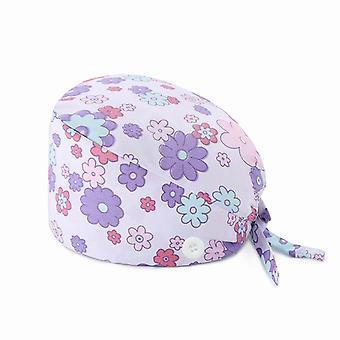 Scrubs čiapky s tlačidlami tlač lab nastaviteľné scrubs dámske čiapky