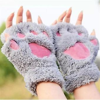 Зимние теплые перчатки без пальцев, женщины прекрасные перчатки