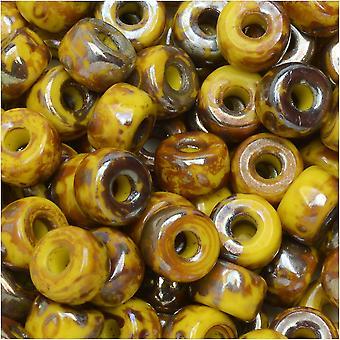 Tšekin lasi matubo, 2/0 siemenet äkkiä, 20 gramman putki, Sitruuna Rembrandt