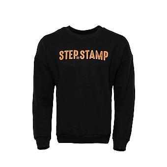 Black letter printed sweatshirt