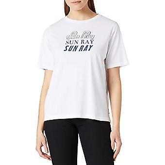 Scotch & Soda Ekologisk Bomull Klassisk Grafisk Tee T-Shirt, 0006 Vit, S Kvinna