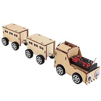 Diy מודל Rc רכבות, פשוט חינוכית מלאכת יד פאזל צעצוע רכבת.