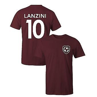 Manuel lanzini 10 club style kids player football t-shirt