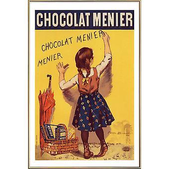 JUNIQE Print - Affisch för Chocolat Menier, Firmin Bouisset - Godisaffisch i gult